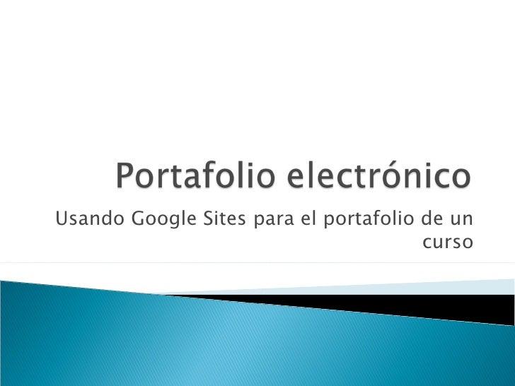 Usando Google Sites para la facultad de educacion