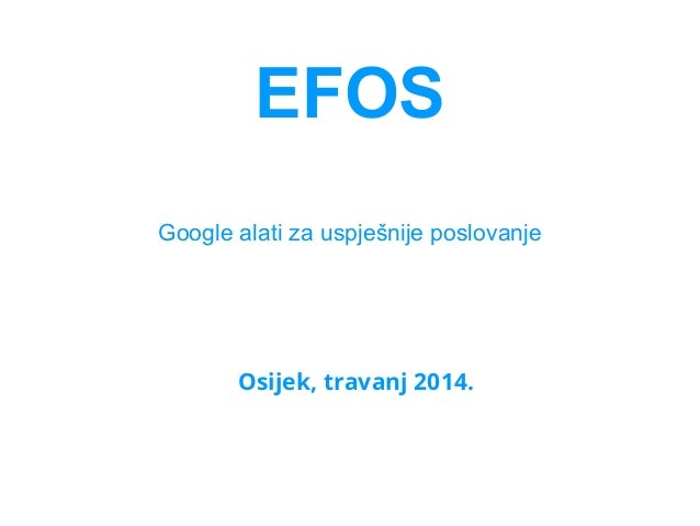 Efos   travanj 2014 - mesarić
