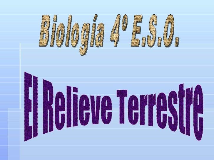 Biología 4º E.S.O. El Relieve Terrestre