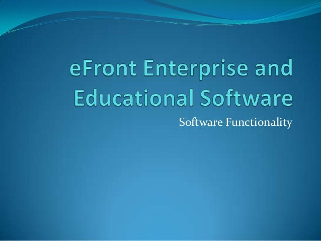 Software Functionality