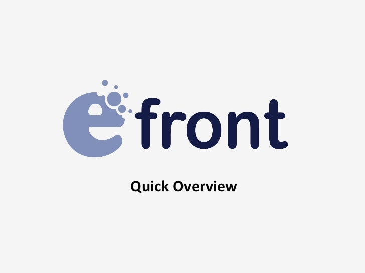 eFront - Quick Overview