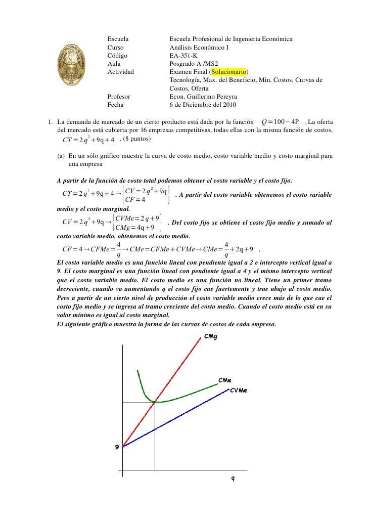 Escuela                 Escuela Profesional de Ingeniería Económica                     Curso                   Análisis E...