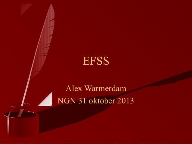 EFSS Alex Warmerdam NGN 31 oktober 2013