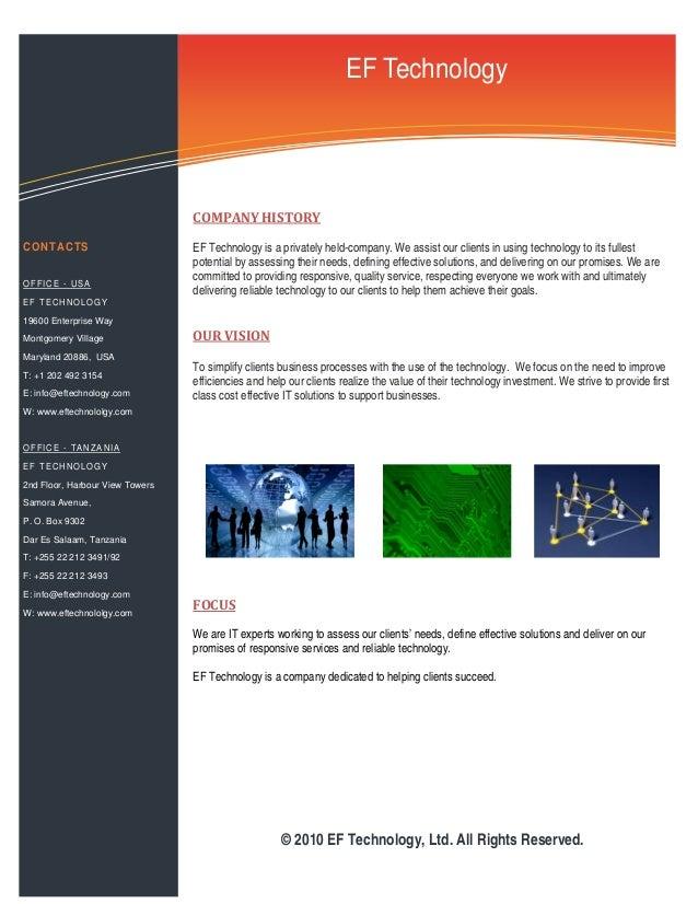 Ef Technology Profile