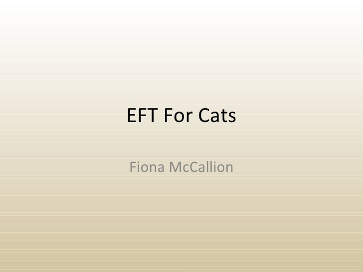 EFT For Cats Fiona McCallion