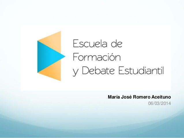 EFyDE - Claves de la Participacion estudiantil - Mª José Romero