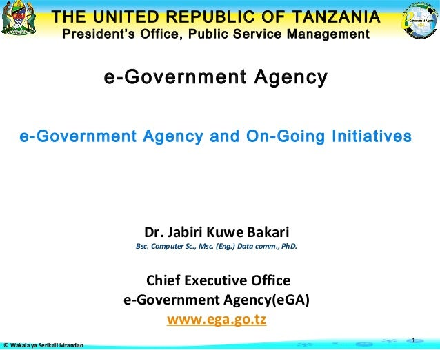 THE UNITED REPUBLIC OF TANZANIA                    President's Office, Public Service Management                          ...
