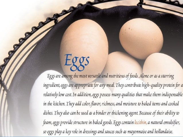 EGGSEGGS  COMPOSITIONCOMPOSITION::  A whole egg consists primarily of a yolk, aA whole egg consists primarily of a yolk,...