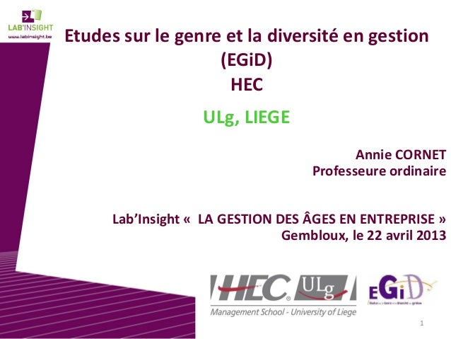 EGID  -ULg - Lab'InSight Gestion des âges en entreprise