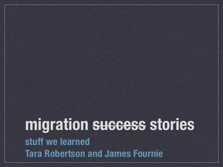 Evergreen Migration Success Stories