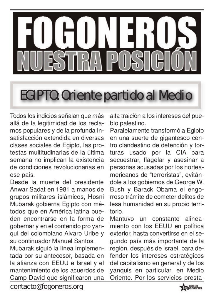 EGIPTO: Oriente partido al MedioTodos los indicios señalan que más     alta traición a los intereses del pue-allá de la le...