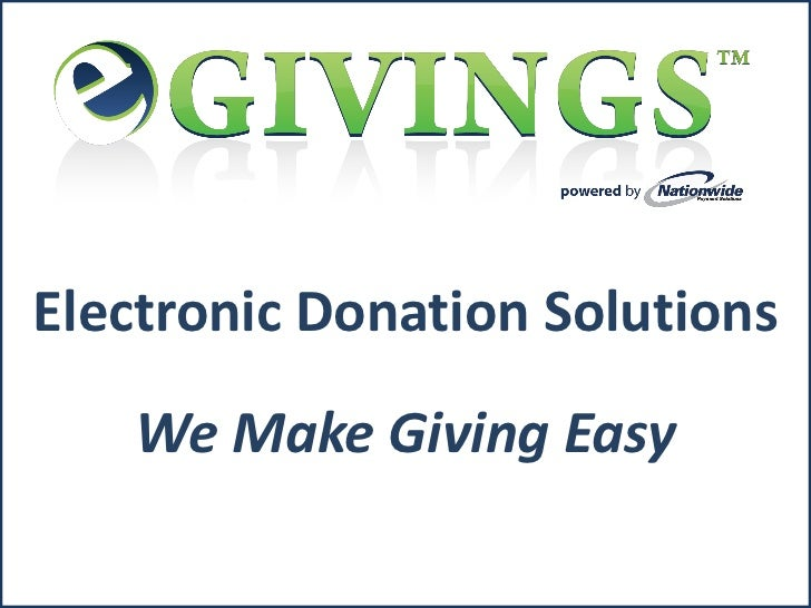 Electronic Donation Solutions   We Make Giving Easy