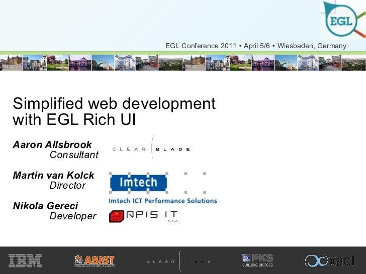 EGL Conference 2011 - EGL Rich UI
