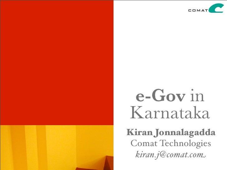 e-Governance in Karnataka: An introduction