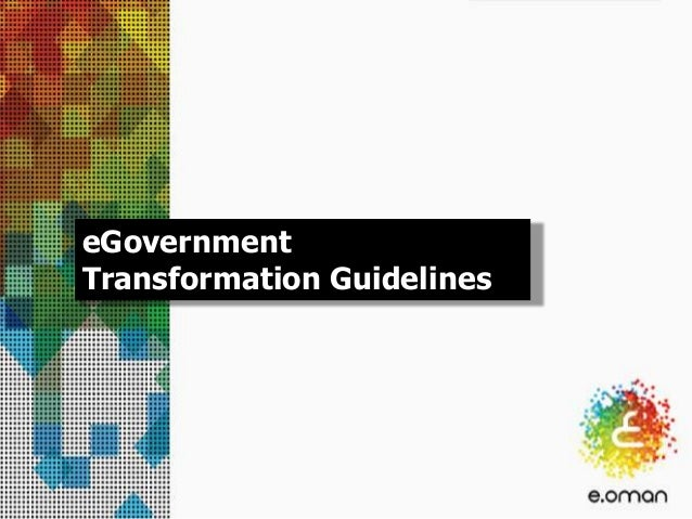 eGovernment Transformation Guidelines