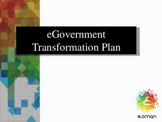 eGovernment Transformation Plan
