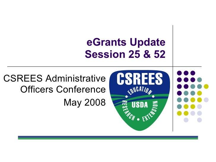 E Grants Update 2008