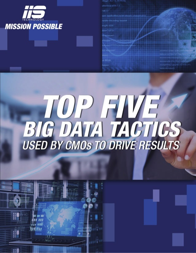 Top Five Big Data Tactics Used By CMOS to Drive Results