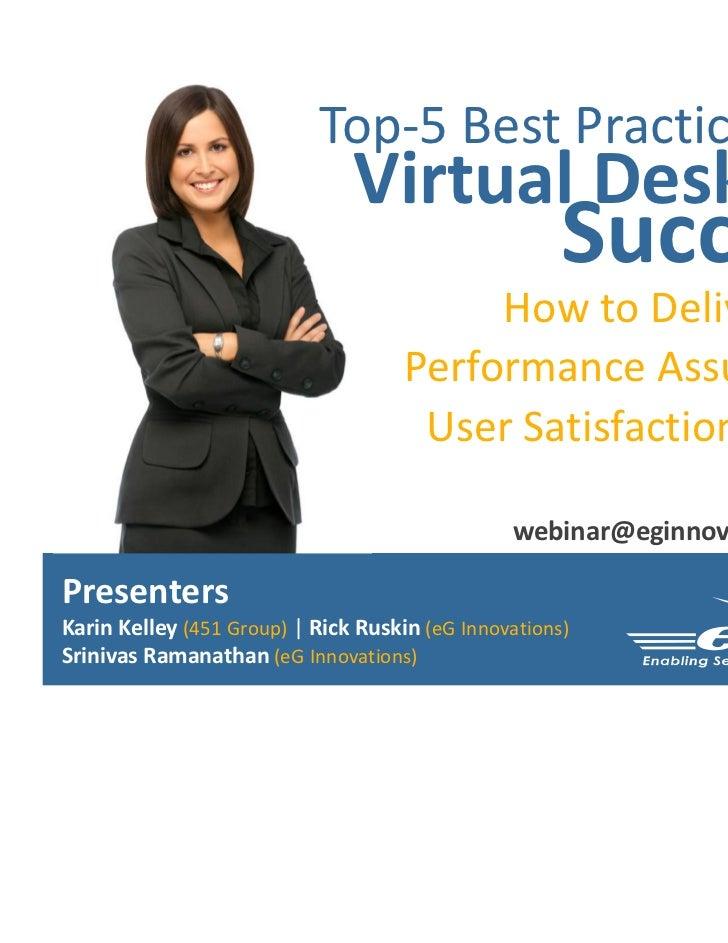 Top-5 Best Practices for                               Virtual Desktop                                                    ...