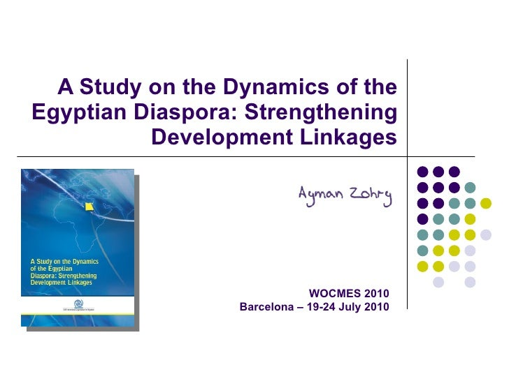 A Study on the Dynamics of the Egyptian Diaspora: Strengthening Development Linkages WOCMES 2010 Barcelona – 19-24 July 2010