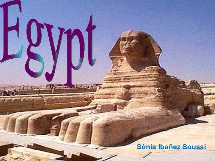Egypt Sònia Ibañez Soussi