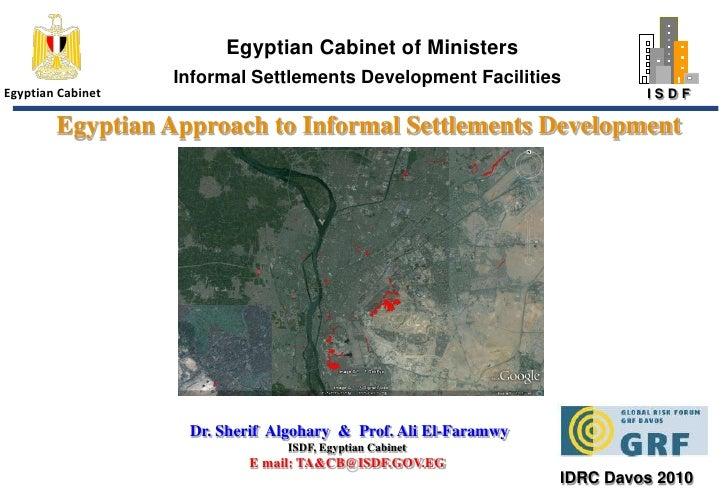 Egyptian Cabinet of Ministers<br />Informal Settlements Development Facilities<br />Egyptian Cabinet<br />Egyptian Approac...