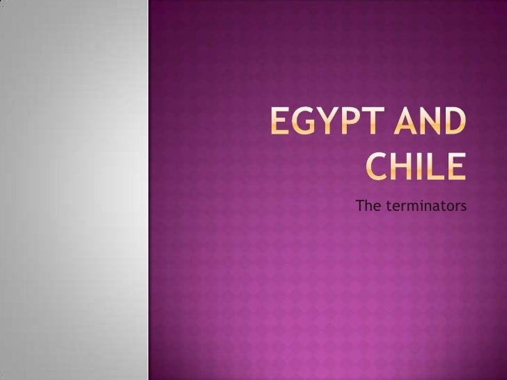 Egypt And Chile