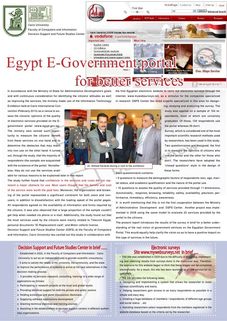 Cairo University                Faculty of Computers and Information                Decision Support and Future Studies Ce...