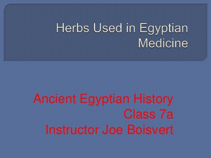 Egyptian History Class 7
