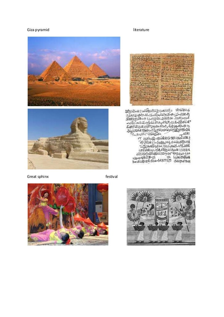 Giza pyramid              literatureGreat sphinx   festival