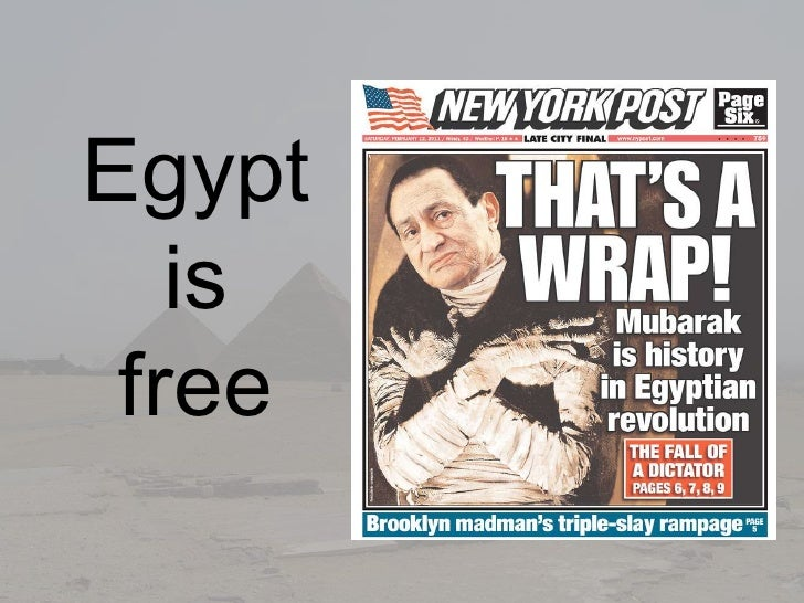 Egypt <br />is <br />free<br />
