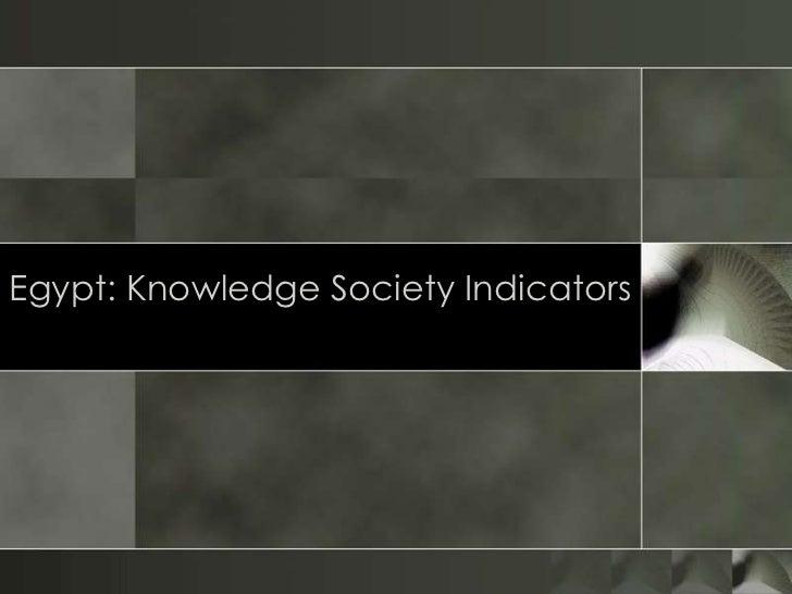 Egypt knowledge society ks essay