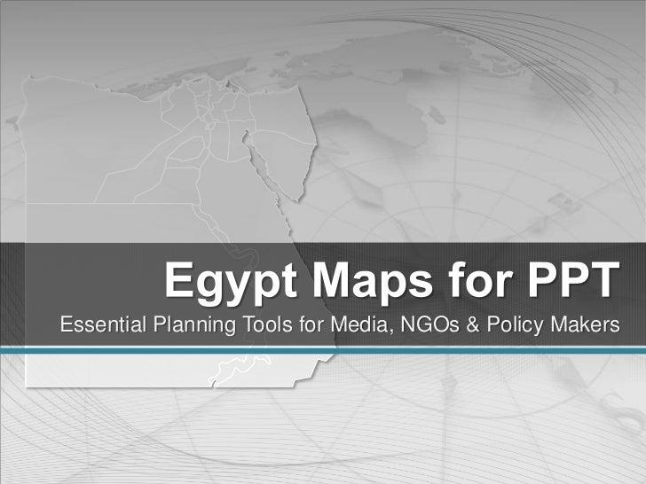Editable Egypt Maps for PowerPoint