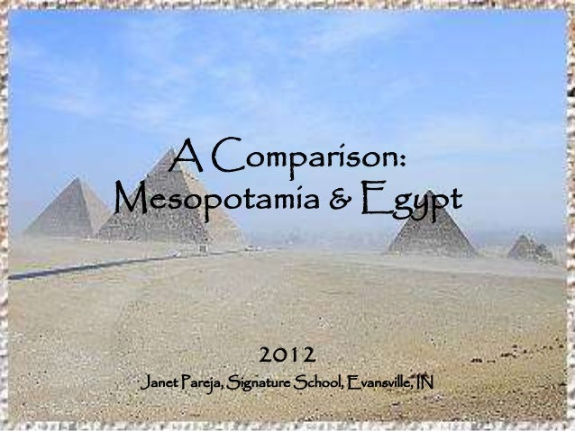 a comparison between the religions of mesopotamia and egypt Religions of the ancient near east some scholars believe that the similarities between these religions indicate that the (though egypt and greece were.