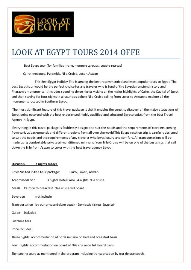 LOOK AT EGYPT TOURS 2014 OFFE Best Egypt tour (for families ,honeymooners ,groups, couple retreat) Cairo ,mosques, Pyramid...