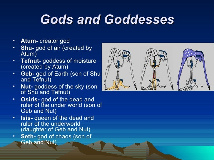 Ancient egyptian gods and goddesses family tree