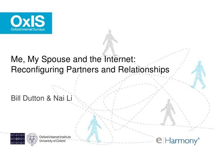 Me, My Spouse and the Internet:  Reconfiguring Partners and Relationships  <br />Bill Dutton & Nai Li<br />