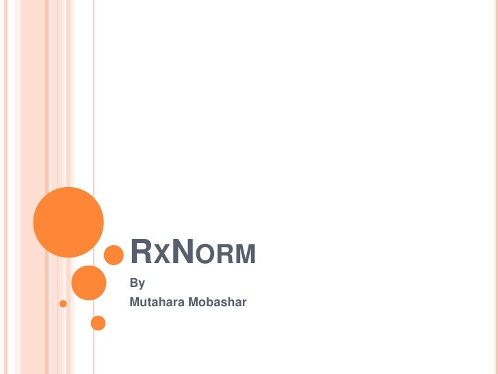 Rx Norm
