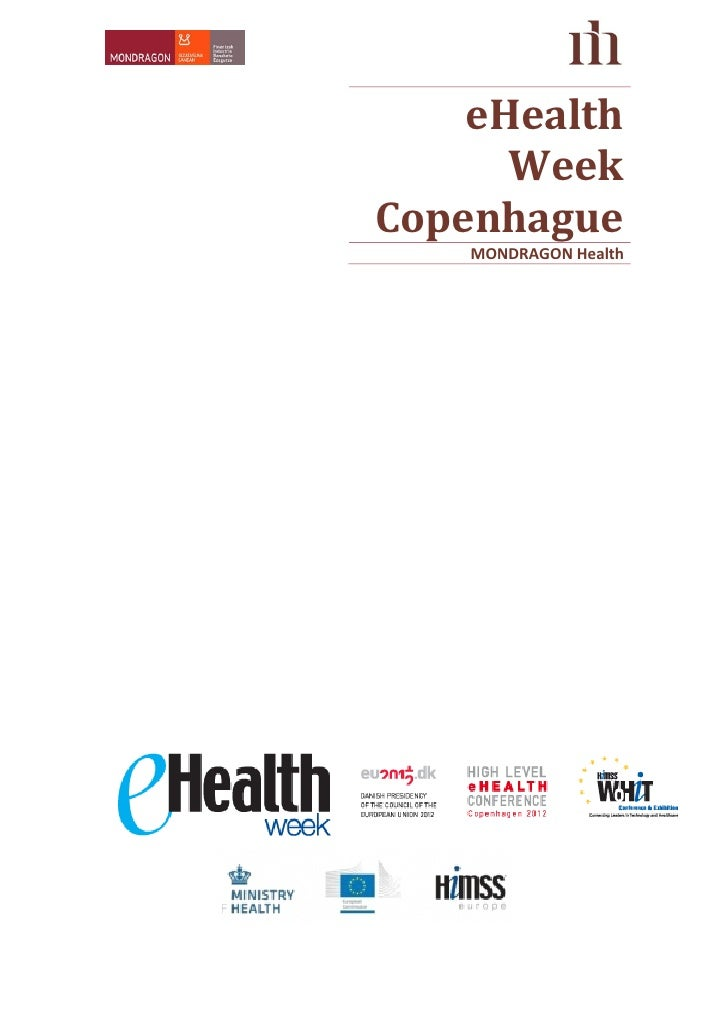eHealth      WeekCopenhague    MONDRAGON Health