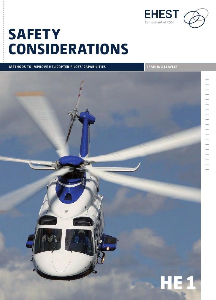 safetyconsiDerationsmETHODS TO imPROVE HELiCOPTER PiLOTS' CAPABiLiTiES   TRAininG LEAFLET                                 ...