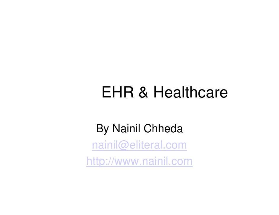 EHR & Healthcare