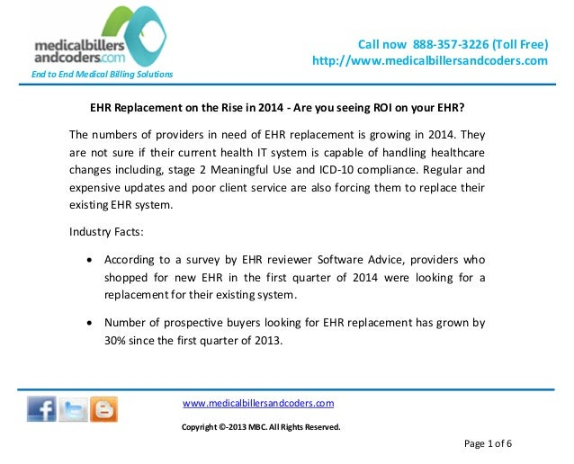 EHR Replacement on the Rise in 2014 - Are you Seeing ROI on your EHR?