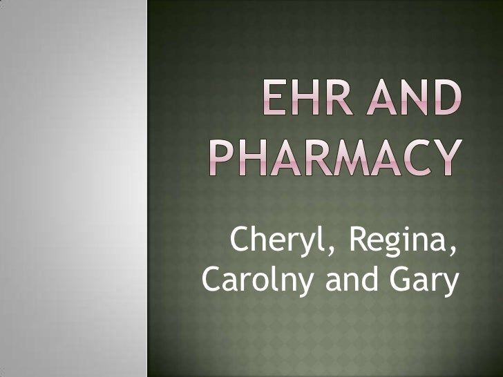 Ehr And Pharmacy