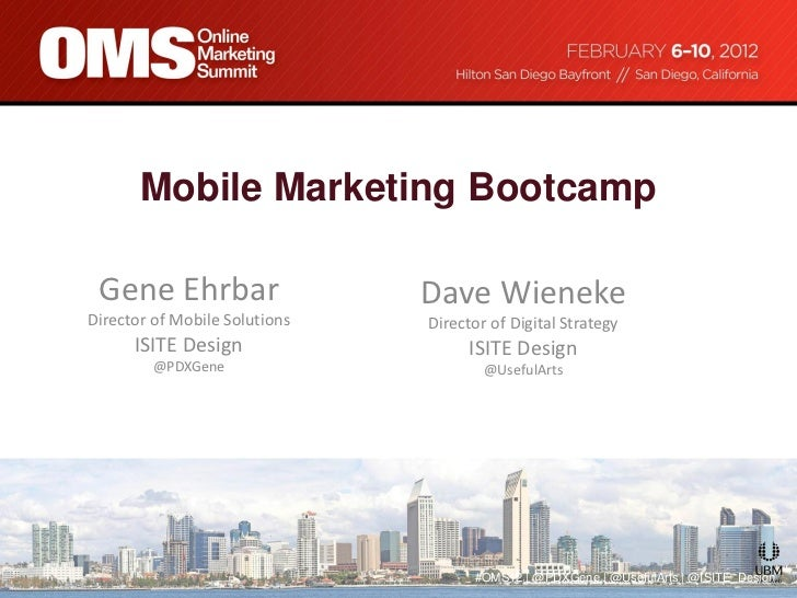 Mobile Marketng Boot Camp 2012