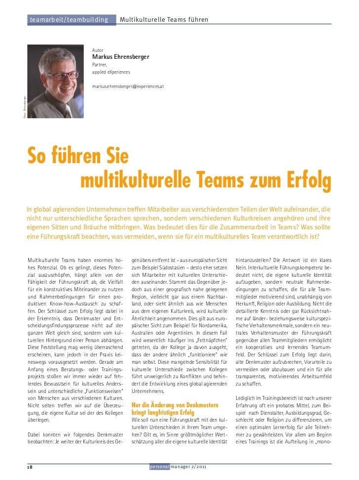 teamarbeit/teambuilding                   Multikulturelle Teams führen                                                   A...
