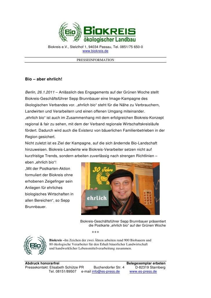 Biokreis e.V., Stelzlhof 1, 94034 Passau, Tel. 0851/75 650-0                                     www.biokreis.de          ...