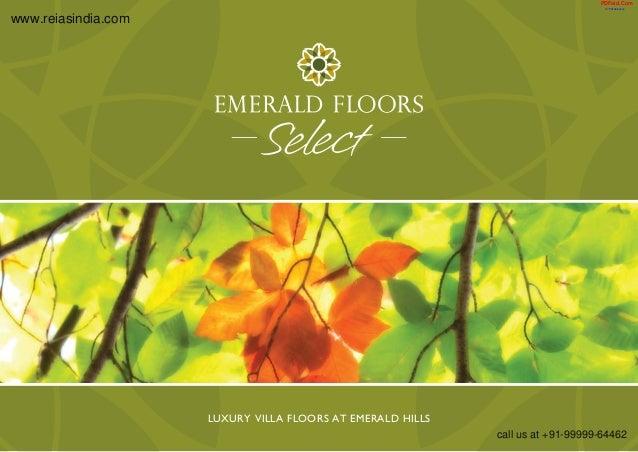 Luxury Villa Floors at Emerald Hills  www.reiasindia.com  PDFaid.Com  #1 Pdf Solutions  call us at +91-99999-64462
