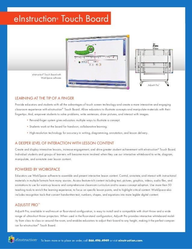 eInstruction by Tearning Technologies  Touchboard
