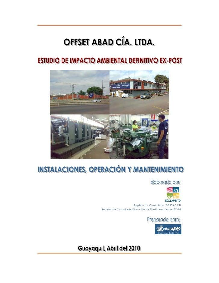 EIA Ex Post Offset Abad