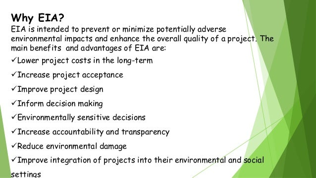 Problems in Environmental Impact Assessment - Scope and ...
